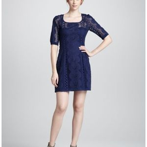 Nanette Lepore Navy Sandy Beach Dress